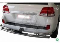 Защита заднего бампера (дуга) TOYOTA LAND CRUISER 200 (2008-) сплошная 0887 TY0108DI1