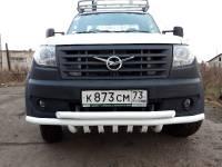 Дуга-защита переднего бампера УАЗ-ПРОФИ сдвоенная с защитой рулевых тяг
