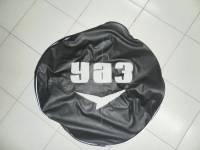 Чехол запасного колеса на УАЗ Хантер, 469, черный, винилкожа.